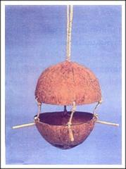 Hanging Coconut shell Bird Houses
