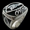 Ring silver jewelry with 3D design