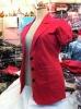 Lovely Short Sleeves Pink Jacket Blazer