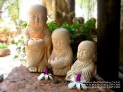 Little Monks Tea Light Candle Holder