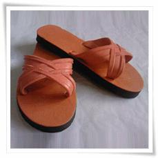 Orange  Cross Strap Sandals SR-102