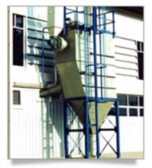Dust Collector for Flock Feeding System