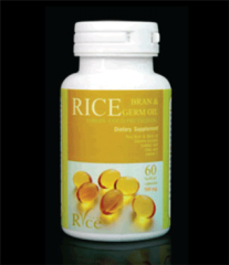 Rice bran, rice germ oil capsules