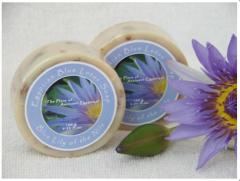Blue lotus flowers soap