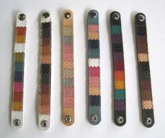 Decorative leather bracelet