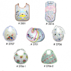 Infant bibs with plastic