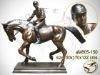 Bronze Jockey on Horse Sculpture