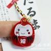 Daruma japanese god mobile strap