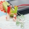 Alphabet japanese silk mobile strap