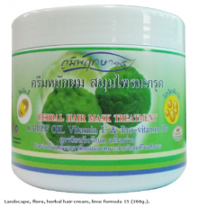 Landscape, flora, herbal hair cream, lime formula