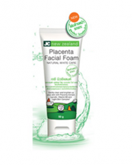 JC new zealand Placenta Facial Foam Natural White