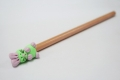 Pencil with clay animals