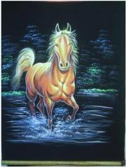 Horse Tempera Painting