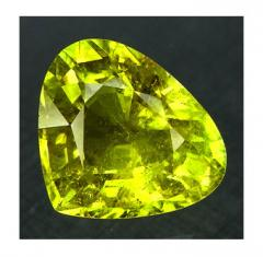 Natural Canary Yellow Pear Cut Tourmaline