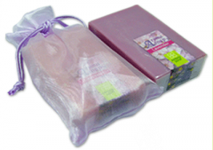 Aromatherapy lavender soap in organdy bag