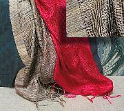 Fishnet Thai Silk Scarf