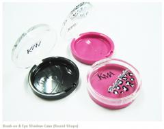 Brush-on & Eye Shadow Case (Round Shape)