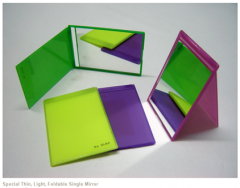 Special Thin, Light, Foldable Single Mirror