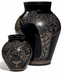 Vase Phum Dok Bua pattern glazy skin 24 Inch