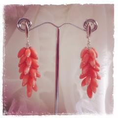 Coral earring When in love