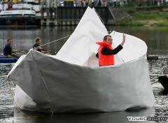 Paper Boat Crane