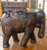Wooden elephant seat