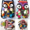 Thai Handmade Patchwork Owl Backpack Bags