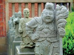 Kuan Yin carving sandstone