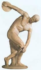 Disk sportsman figurines