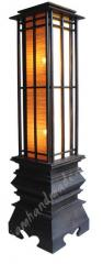 Floorstand Teak Lamp
