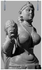 Khmer Male - Small Sandstone Statues