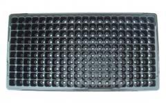 Plastic trays for seedlings