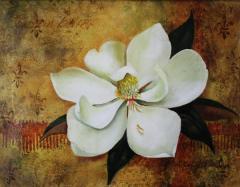 Magnolia grandiflora Acrylic painting