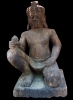 Kneeling Yaksha (Guardian) , Sandstone Carving