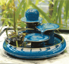 Ceramic Fountain with colorful for decorative