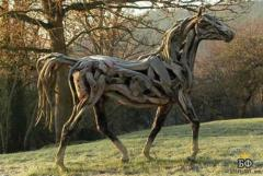 Teak Wood Horse
