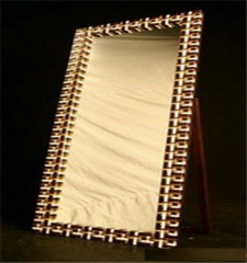 White Mirror with Stand