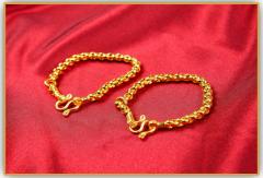 Gold anklet for new born