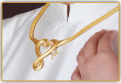99.99% gold jewelry  heart modern craft