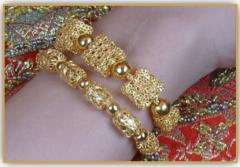 99.99% Petchburi gold jewelry PAWALUM bracelet