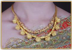 99.99% Petchburi gold jewelry royal lotus necklace