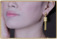 99.99% Petchburi gold jewelry PAWALUM earrings