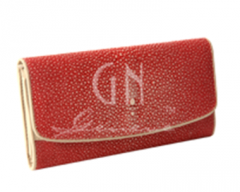Long wallet Polished Red