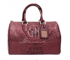 Crocodile casual handbag Tan