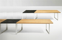 Side Bench and Table ( Lava Stone Top)