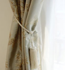 Curtains and drapes silk