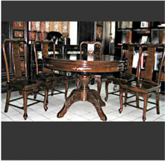 Round Dining Set with mother of pearl inlaid