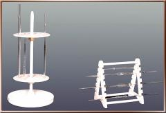 Rotary rack for 94 pipettes