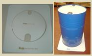 White Barrel Mat Set size 80 x 71 cm.