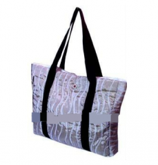Handmade glamourous Jacquard Woven Polyester Quilt Fabric Bag